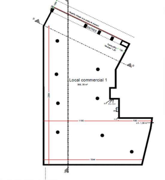 Location Locaux commerciaux Bois colombes 92270  330m2  ~ Carte Bois Colombes