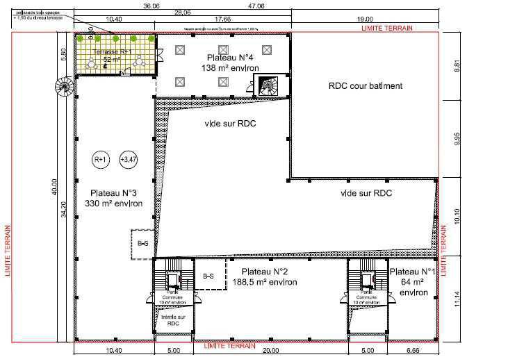 Location Bureaux Gennevilliers 92230 - Plan 1