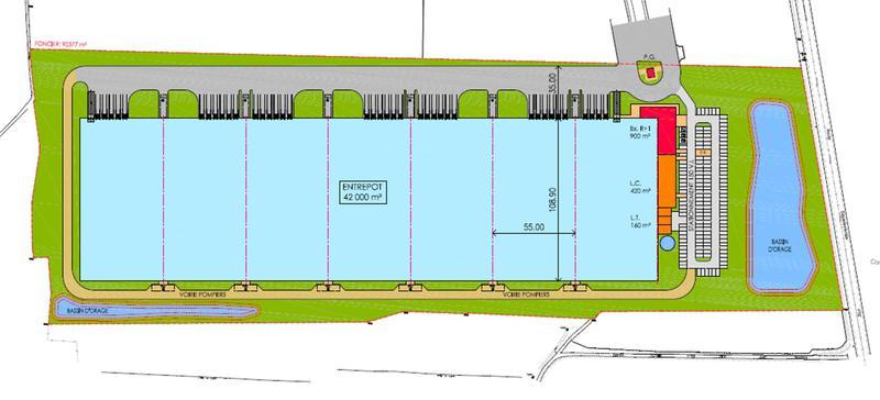 Projet de plate-forme logistique de 18 000 m² CHANTELOUP LES VIGNES - Photo 1