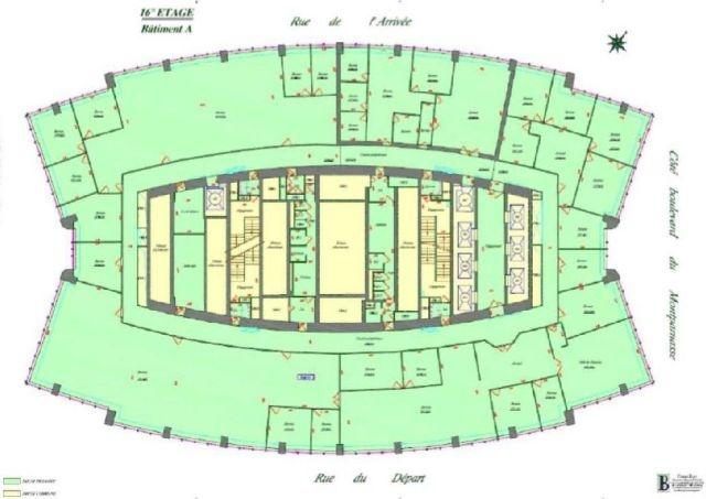 location bureaux paris 15 75015 175m2. Black Bedroom Furniture Sets. Home Design Ideas