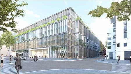 18.883m² de bureaux à énergie positive au sein d'un campus de 33.000m²