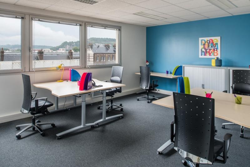 Plateaux de bureaux équipés de 100m² à Rouen