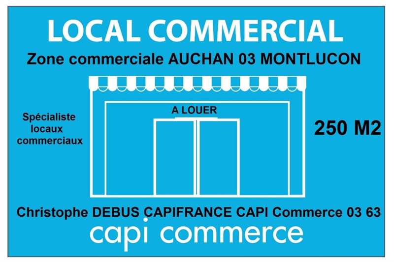 Dpt Allier (03), Bail à céder, MONTLUCON zone commerciale AUCHAN Local commercial - Photo 1