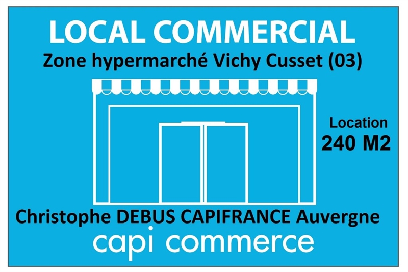 Local commercial 240 M2 proche de Vichy sur une zone commerciale d'hypermarché 03 - Photo 1