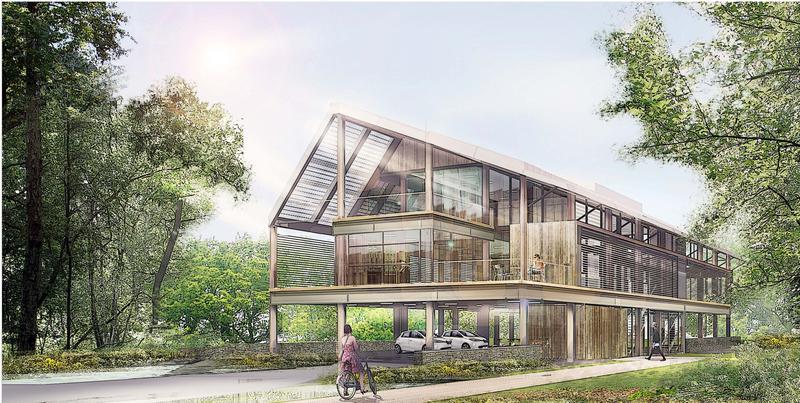 Les Jardins des Prés, vos bureaux 100 % écologiques au coeur du poumon vert du quartier des Prés - Photo 1