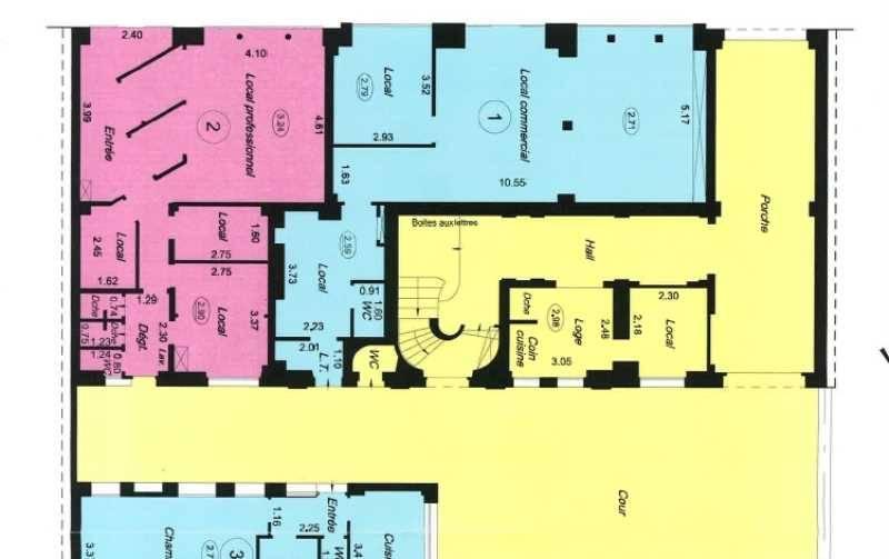 Location locaux commerciaux paris 75005 67m2 for Locaux commerciaux atypiques paris