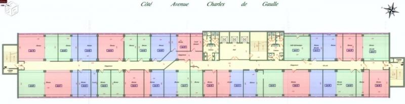 PLATEAU DE BUREAUX A VENDRE 885m² A 450€/m². RENTA 15%